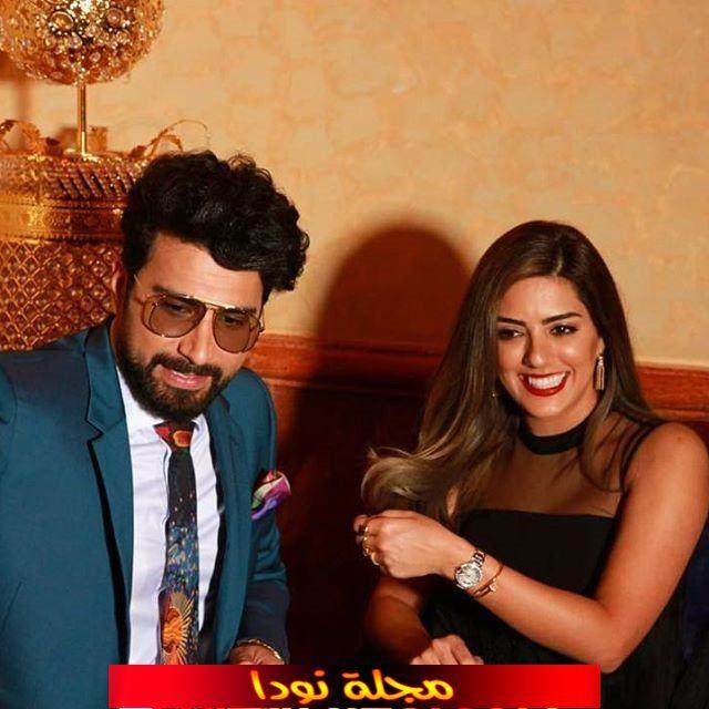 صورة فؤاد علي وزوجته الفنانة هيا عبد السلام