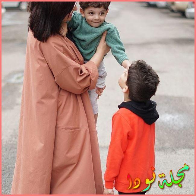 هبة الدري وأولادها
