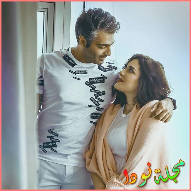 هبة الدري وزوجها نواف العلي