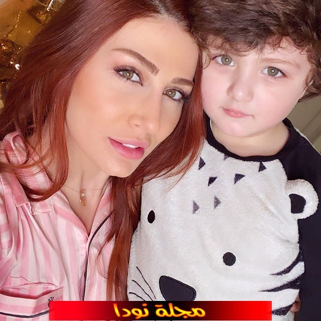 هبة نور وابنها تيمو