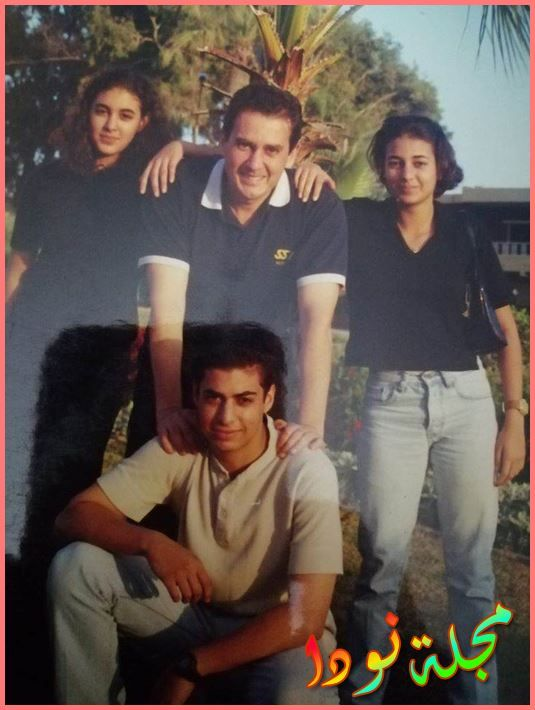 ياسمين صبري ووالدها وأخواتها
