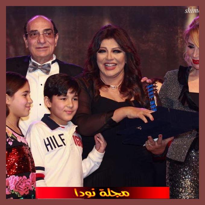 صورة عائلية جميلة للفنانة