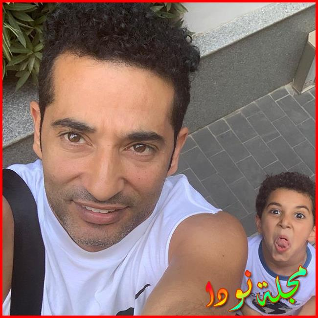 عمرو سعد وابنه