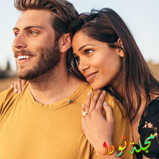 صورة النجمة مع حبيبها
