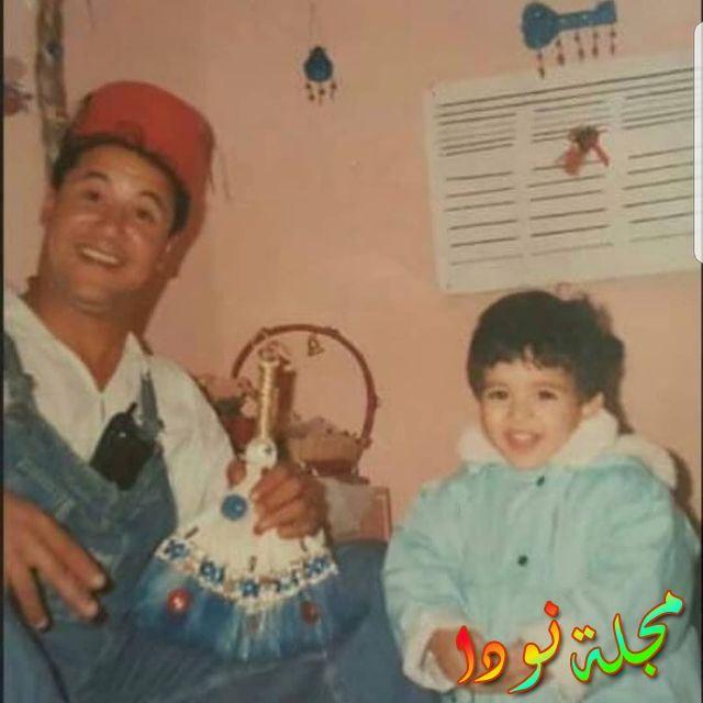 صورة جميلة له وهو صغير مع والده الراحل وائل نور